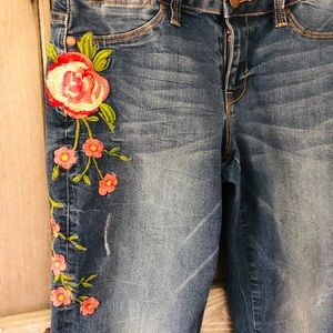 Embroidered Max Jeans